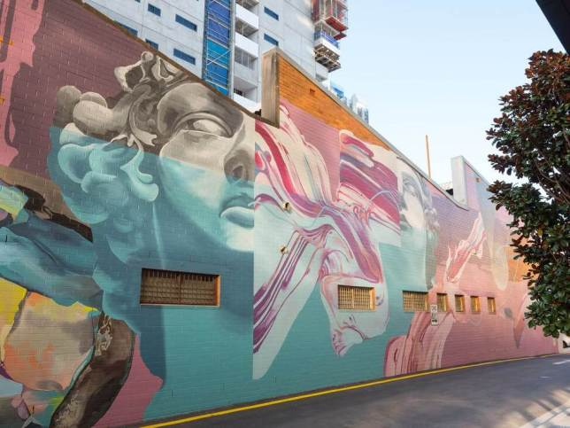 fresque MIMI Brisbane Street Art Festival, Australie