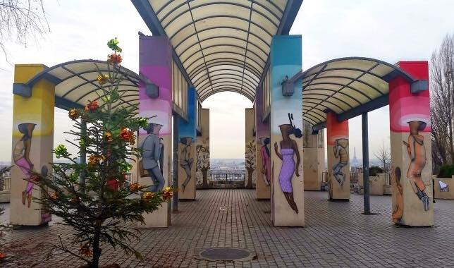 Street art de Julian Seth Malland à Belleville, Paris
