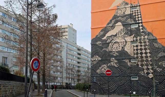 Street art du projet Boulevard 13