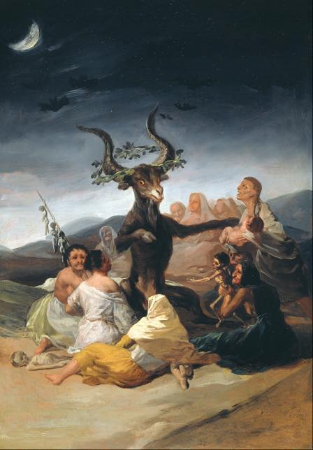"""Witch Art, """"Witches' Sabbath"""" painted by Francisco de Goya in 1798"""