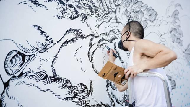 Murale fait par Kristopher Ho, HK walls, Hong Kong, street art