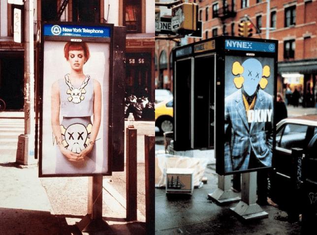 Cabines téléphoniques revues par Kaws à New-York