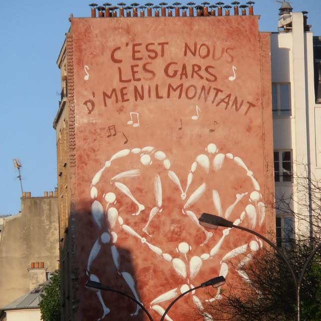 Street art de Jérôme Mesnager dans la rue de Ménilmontant