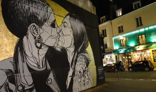 Fresque de Mahn Kloix sur rue Oberkampf, Paris