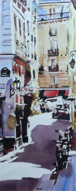 Paris watercolor Franck Le Boulicaut