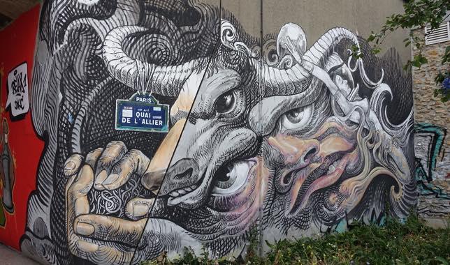 Street art sur le Canal Saint-Denis