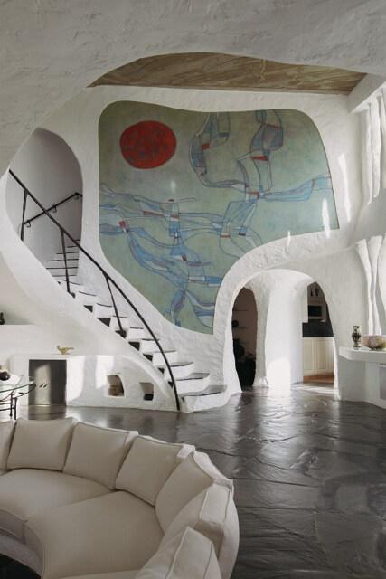 Villa d'artiste Troglodytes Jacques Couëlle Cannes