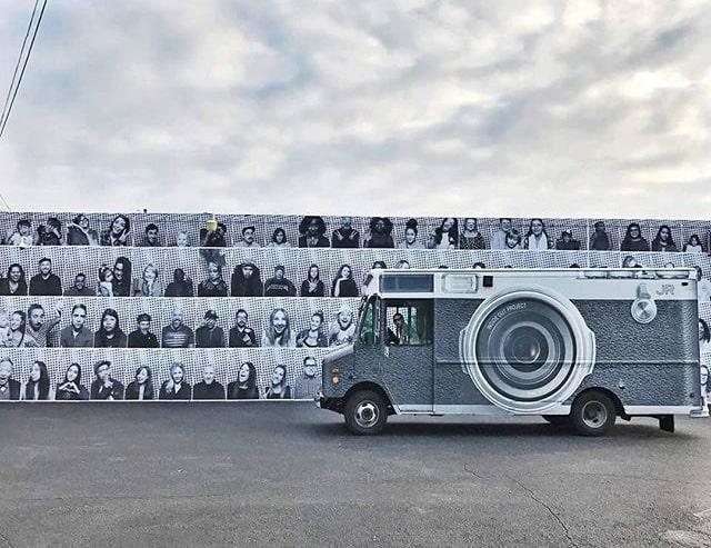 JR's photographic truck