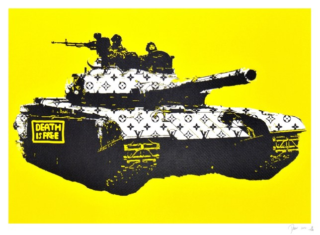 """""""Yellow Tank"""" by Death NYC, available on Artsper"""