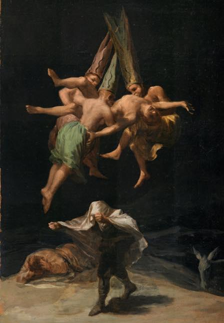"""Sorcières dans """"Witches Flight"""" de Francisco de Goya, 1797-98"""