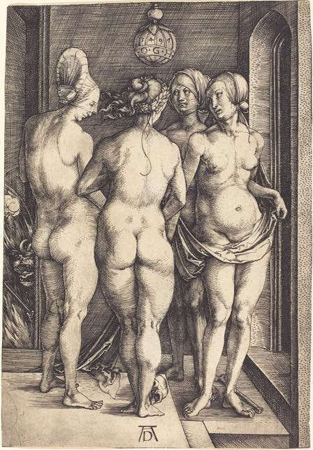 """Des sorcières dans """"Die Vier Hexen"""" de Albrecht Dürer, 1497"""