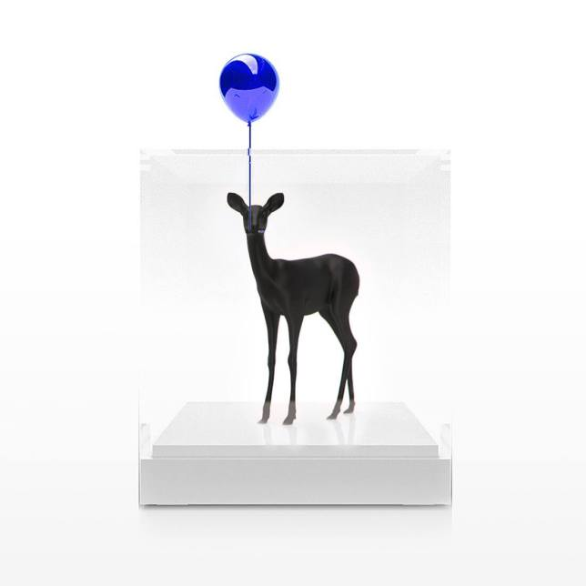 Balloon Bambi (Blue),Paco Raphael, impression 3D